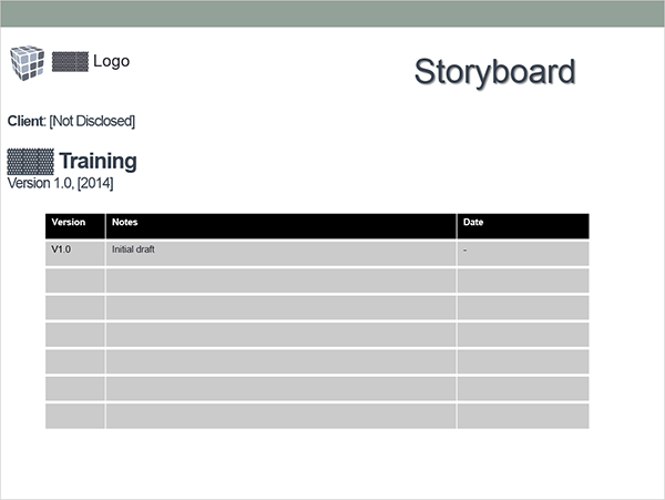 sample e-learning storyboard
